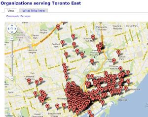 Organizations serving Toronto East