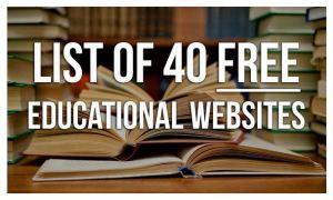list of 40 edu sites